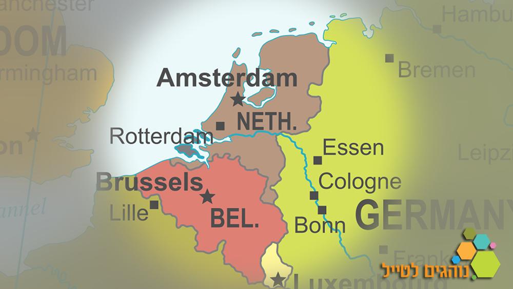 מפת הולנד
